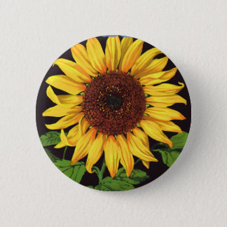 Vintage Fruit Crate Label Art Orangedale Sunflower Pinback Button