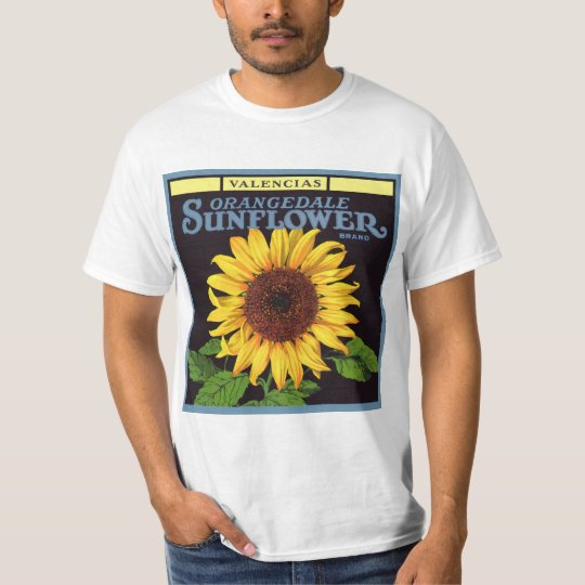 Vintage Fruit Crate Label Art Orangedale Sunflower T-Shirt