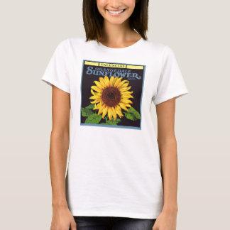 Vintage Fruit Crate Label Art Orangedale Sunflower T-Shirt