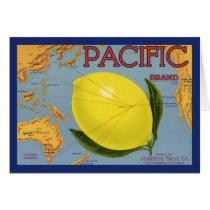 Vintage Fruit Crate Label Art Pacific Lemon Citrus
