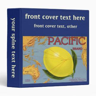 Vintage Fruit Crate Label Art Pacific Lemon Citrus Binder
