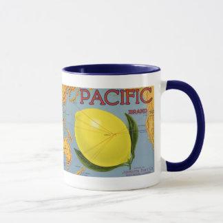 Vintage Fruit Crate Label Art Pacific Lemon Citrus Mug
