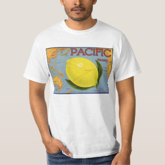 Vintage Fruit Crate Label Art Pacific Lemon Citrus T-Shirt
