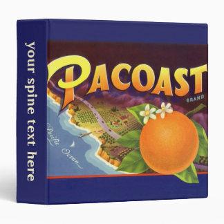 Vintage Fruit Crate Label Art, Pacoast Oranges Binders