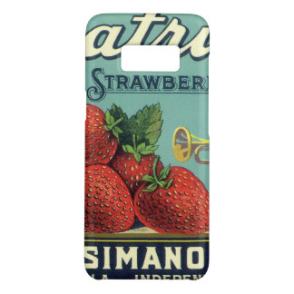 Vintage Fruit Crate Label Art Patriot Strawberries Case-Mate Samsung Galaxy S8 Case