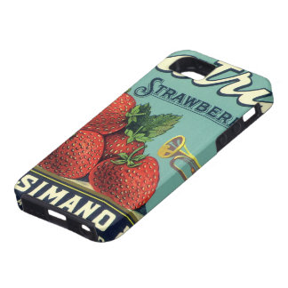 Vintage Fruit Crate Label Art Patriot Strawberries iPhone 5 Case