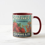 Vintage Fruit Crate Label Art Patriot Strawberries Mug