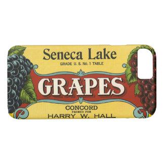 Vintage Fruit Crate Label Art, Seneca Lake Grapes iPhone 7 Case