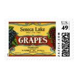 Vintage Fruit Crate Label Art, Seneca Lake Grapes Postage Stamp