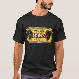 Vintage Fruit Crate Label Art, Seneca Lake Grapes T-Shirt