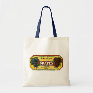 Vintage Fruit Crate Label Art, Seneca Lake Grapes Tote Bag
