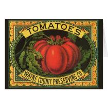 Vintage Fruit Crate Label Art, Wayne Co Tomatoes