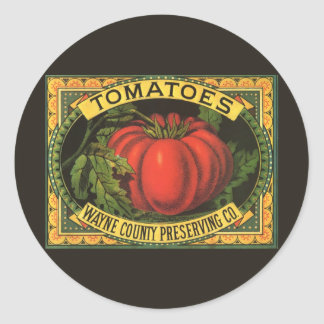 Vintage Fruit Crate Label Art, Wayne Co Tomatoes