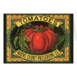 Vintage Fruit Crate Label Art, Wayne Co Tomatoes Card