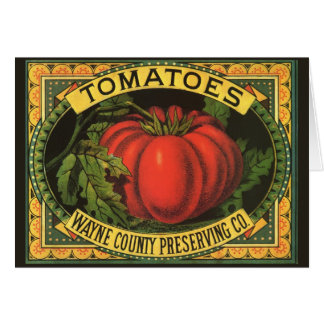 Vintage Fruit Crate Label Art, Wayne Co Tomatoes Card