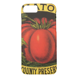 Vintage Fruit Crate Label Art, Wayne Co Tomatoes iPhone 8/7 Case