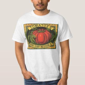 Vintage Fruit Crate Label Art, Wayne Co Tomatoes Shirt
