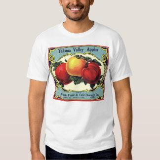 Vintage Fruit Crate Label Art Yakima Valley Apples T Shirt