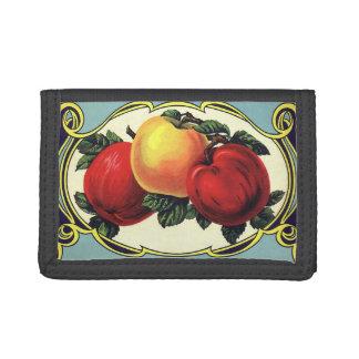 Vintage Fruit Crate Label Art Yakima Valley Apples Trifold Wallet