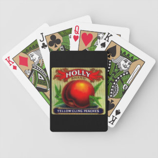 Vintage Fruit Crate Label  Holly - Playing Cards