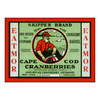 Vintage Fruit Crate Label Poster