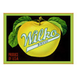 Vintage Fruit Crate Lable Poster