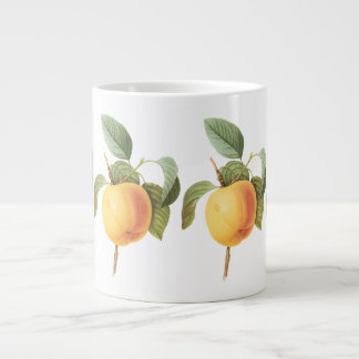 Vintage Fruit Food, Calville Apple by Redoute Giant Coffee Mug