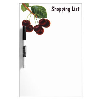 Vintage Fruit Foods, Ripe Cherries from a Tree Dry-Erase Board