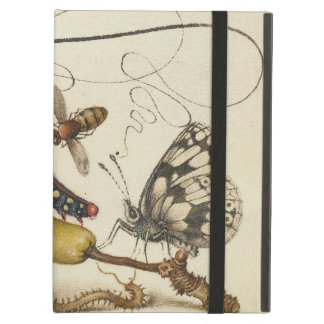 Vintage Fruit Insects Bee Butterfly Caterpillar iPad Air Cover