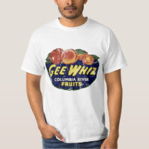Vintage Fruit Label Peaches, Funny Gee Whiz