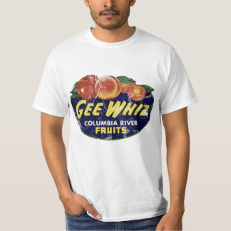 Vintage Fruit Label Peaches, Funny Gee Whiz T-Shirt