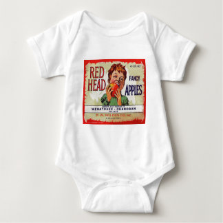 Vintage fruit label - Red Head apples Tshirts