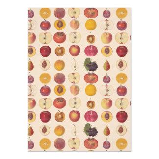Vintage Fruit Pattern Card