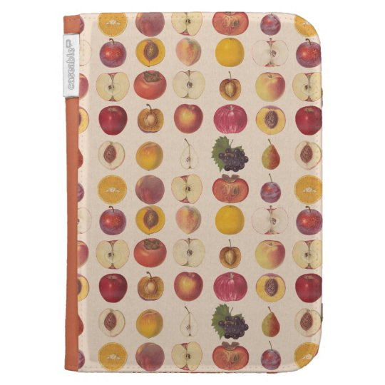 Vintage Fruit Pattern Kindle Case