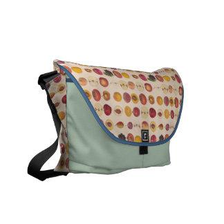 Vintage Fruit Pattern Messenger Bag