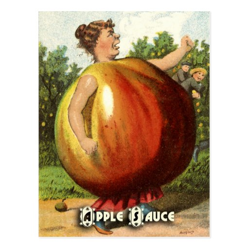 Vintage Fruit Postcard Series: Apple