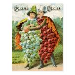 Vintage Fruit Postcard Series: Grapes