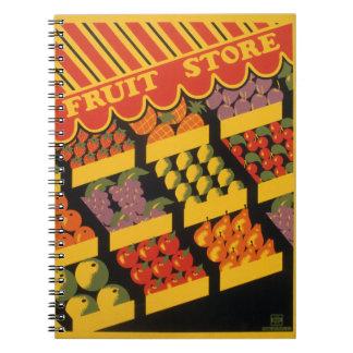 Vintage Fruit Store Notebook