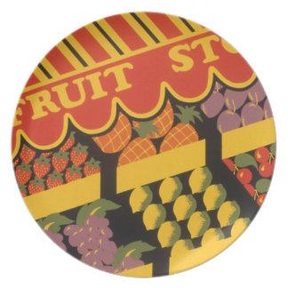 Vintage Fruit Store Party Plates