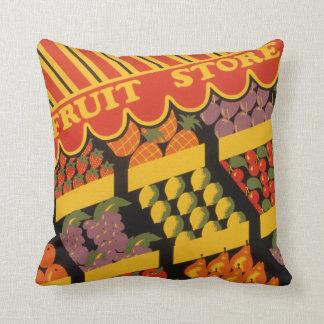 Vintage Fruit Store Pillow
