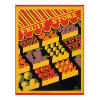 Vintage Fruit Store Post Card
