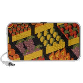Vintage Fruit Store Travelling Speakers