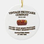 Vintage Fruitcake Company Adorno Redondo De Cerámica