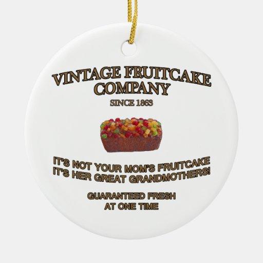 Vintage Fruitcake Company Adorno De Navidad