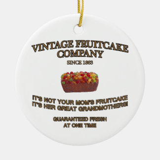 Vintage Fruitcake Company Double-Sided Ceramic Round Christmas Ornament