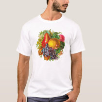 Vintage Fruits and Nuts Painting T-Shirt