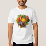 Vintage Fruits and Nuts Painting T-shirts