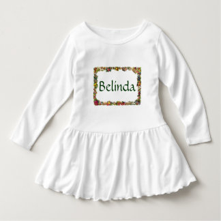 Vintage Fruits Flowers Personalized Name Dress