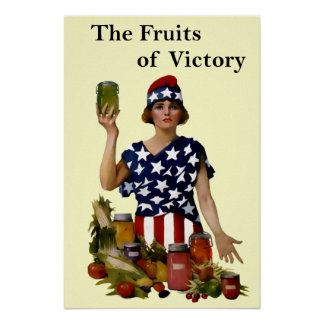 Vintage Fruits of Victory Poster Print