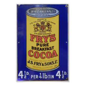 Vintage Fry's Pure Breakfast Cocoa Advertisement Print
